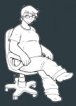 7-car-pileup chair chubby clothed clothing eyewear glasses hair human looking_at_viewer not_furry pants shirt sitting smile socks solo transformation   Rating: Safe  Score: 0  User: mountainering  Date: August 16, 2013