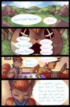 ambiguous_gender cloud comic eevee english_text eyes_closed feral forest grass inside mountain nintendo outside pokémon pokémon_mystery_dungeon text tree video_games vulpix zanthu   Rating: Safe  Score: 7  User: UNBERIEVABRE!  Date: June 22, 2014