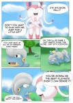 ambiguous_gender arti4000 bagon comic dialogue eeveelution female feral fight hi_res nintendo pokémon sylveon video_games
