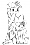 black_and_white cutie_mark dragon duo equine erection female feral friendship_is_magic hair horn magic male male/female mammal mindfuck monochrome my_little_pony penis plain_background scalie smile spike_(mlp) tg-0 twilight_sparkle_(mlp) unicorn  Rating: Explicit Score: 2 User: anon__x Date: November 26, 2012""