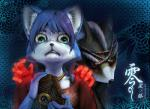 2016 anthro black_nose blue_fur blue_hair brown_fur camera canine clothing duo fatal_frame female fox fox_mccloud fur gloves green_eyes hair hi_res japanese_text krystal male mammal monster nightmare_fuel nintendo rope scared short_hair soul_devouring_eyes star_fox text video_games white_fur メガあると  Rating: Safe Score: 7 User: Cαnε751 Date: April 11, 2016