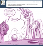 2011 ask_princess_molestia cheating crown dialogue duo english_text equine eyewear female feral friendship_is_magic golf_ball golf_club hair horn john_joseco like_a_boss long_hair magic mammal monochrome my_little_pony princess princess_celestia_(mlp) princess_luna_(mlp) royalty sibling sisters sunglasses text tiara tumblr winged_unicorn wings  Rating: Safe Score: 10 User: Dogenzaka Date: October 09, 2011