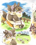 canine caprine female green_eyes kemono male mammal open_mouth sheep solo wolf 宇月まいと  Rating: Safe Score: 2 User: Komaru Date: July 28, 2015