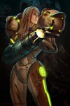 armor blonde_hair blood blue_eyes bounty_hunter cave damage female futuristic glowing hair hi_res human metroid nintendo not_furry power_armor samus_aran sci-fi transfuse underground video_games watermark weapon wounded   Rating: Safe  Score: 18  User: Catachan  Date: November 02, 2012