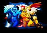 anthro articuno avian beak big_breasts blue_eyes blush breast_grab breast_squish breasts butt dodolovelove feathered_wings feathers fire group hand_on_breast herm intersex legendary_pokémon moltres nintendo nipples nude penis pokémon pose precum pussy pussy_juice red_eyes sitting talons video_games wings zapdos  Rating: Explicit Score: 6 User: Pasiphaë Date: August 31, 2015