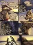 amon anthro canine clothed clothing collar comic dialogue drama jackal luther male mammal outside red_lantern_the_crimson_divine rukis text topless wolf  Rating: Safe Score: 13 User: furryanon Date: August 14, 2013