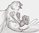 2015 ambiguous_gender animal_genitalia avian bird cloaca cloacal_penetration dildo eyes_closed falcon feral masturbation penetration sex_toy sketch solo tuke  Rating: Explicit Score: 12 User: TonyLemur Date: July 04, 2015