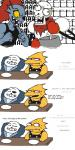 alphys armor bone buckteeth clothing comic cooking dialogue english_text eye_patch eyewear female fish glasses group gud hair humor jacket male marine monster papyrus_(undertale) plate red_hair sans_(undertale) scales scalie sharp_teeth skeleton smile sweat table teeth text undertale undyne video_games yelling yellow_scales  Rating: Safe Score: 15 User: ROTHY Date: October 11, 2015