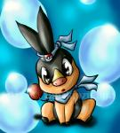 ambiguous_gender black_fur bubble cute feral fur headband hooves looking_at_viewer nintendo open_mouth pokéball pokémon red_fur scarf sitting tailzkip tepig video_games yellow_fur   Rating: Safe  Score: 1  User: GameManiac  Date: March 02, 2015
