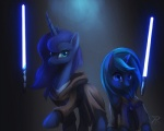 2014 blue_eyes blue_fur blue_hair cloak clothing crossover duo equine fan_character female feral friendship_is_magic fur hair horn jedi lightsaber long_hair magic mammal my_little_pony princess_luna_(mlp) raikoh-illust star_wars teal_eyes unicorn weapon  Rating: Safe Score: 12 User: Somepony Date: May 05, 2014