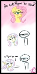 """abstract_background duo english_text equine female feral flirting fluttershy_(mlp) friendship_is_magic horse human male mammal my_little_pony palenarrator pegasus pony text wings  Rating: Questionable Score: 3 User: cowboy_brony Date: July 05, 2015"""""""