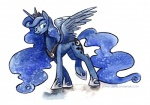 2014 blue_eyes blue_hair crown cutie_mark equine female feral friendship_is_magic hair horn kenket mammal my_little_pony necklace princess_luna_(mlp) solo sophiecabra sparkles standing winged_unicorn wings   Rating: Safe  Score: 10  User: 2DUK  Date: May 04, 2014