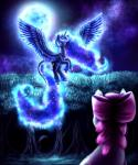 2015 9de-light6 absurd_res apple_bloom_(mlp) blue_eyes blue_feathers blue_fur blue_hair bow crown cutie_mark duo equine feathered_wings feathers female feral flying forest friendship_is_magic fur glowing grass hair hi_res horn jewelry mammal moon my_little_pony necklace princess_luna_(mlp) purple_hair sky spread_wings star tree winged_unicorn wings  Rating: Safe Score: 6 User: ConsciousDonkey Date: January 21, 2016