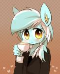2015 anthro anthrofied beverage blush clothing coffee cup equine female food friendship_is_magic green_hair hair hi_res horse joycall3 lyra_heartstrings_(mlp) mammal my_little_pony piercing pony portrait solo steam yellow_eyes  Rating: Safe Score: 6 User: 2DUK Date: August 10, 2015