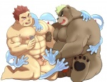 anthro ashigara barazoku bear condom gunzou handjob human human_on_anthro interspecies isuckusuck male male/male mammal mohawk muscular overweight sex slime tokyo_afterschool_summonersRating: ExplicitScore: 2User: arliDate: July 22, 2017
