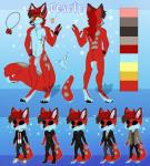 anthro canine chibi clothed clothing fox honesty_(artist) looking_at_viewer male mammal model_sheet nipples nude scar solo standingRating: QuestionableScore: 0User: Cat-in-FlightDate: February 19, 2017