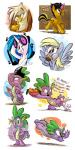 2014 angel_(mlp) avian black_hair blonde_hair blue_hair brown_feathers brown_fur carrot cheerilee_(mlp) cross-eyed derpy_hooves_(mlp) dragon eating english_text equine eyewear fan_character feathers female food friendship_is_magic fur gilda_(mlp) glasses green_eyes grey_fur gryphon hair horn lagomorph looking_at_viewer mammal muffin my_little_pony one_eye_closed open_mouth orlandofox pegasus pirate purple_eyes rabbit red_eyes scalie smile spike_(mlp) teeth text unicorn vinyl_scratch_(mlp) white_feathers white_fur wings wink yellow_eyes  Rating: Safe Score: 9 User: DeltaFlame Date: February 26, 2015
