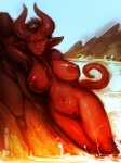 2015 annoyed anthro areola big_areola big_breasts breasts demon female fire hair hell horn horny humanoid lava leaning looking_at_viewer mountain neurodyne nipples nude outside pussy red_body red_eyes red_hair rock solo unknown_species water xephis  Rating: Explicit Score: 27 User: xn0 Date: August 20, 2015