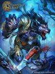 2016 abs anthro arm_support barefoot blood_on_hand blood_on_mouth blue_fur blue_skin canine claws clothed clothing collar crouching detailed detailed_background digital_media_(artwork) digitigrade fangs fighting_stance forest fur knife looking_at_viewer male mammal muscular night official_art open_mouth open_shirt orange_eyes outside pascal_vasile pecs sharp_claws sharp_teeth teeth torn_clothing tree were werewolf  Rating: Safe Score: 3 User: Vanzilen Date: March 20, 2016