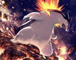ambiguous_gender fangs fire nintendo pokémon red_eyes typhlosion video_games  Rating: Safe Score: 10 User: Rad_Dudesman Date: November 30, 2015