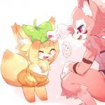 canine cat cotora cute duo eyes_closed feline female fox fur kemono loli mammal open_mouth pink_fur purple_eyes young  Rating: Safe Score: 2 User: Komaru Date: May 20, 2015