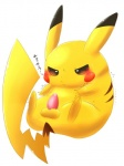 ... 2015 achi animal_genitalia balls blush erection feral fur half-closed_eyes japanese_text jitter lying male mammal nintendo nude penis pikachu pokémon precum rodent simple_background solo sweat text translation_request video_games white_background yellow_fur  Rating: Explicit Score: 7 User: N7 Date: February 21, 2015
