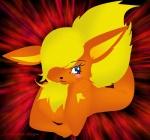 "anthro blue_eyes blush breasts canine chest_tuft cute eeveelution female fire flareon fluffy fox fur insomniac-platypus looking_at_viewer mammal nintendo nude orange_body pokémon pokémorph raised_tail solo tuft video_games warm_colors  Rating: Safe Score: 0 User: insomniac_platypus Date: August 18, 2009"""