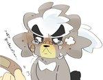 2020 anthro black_nose bodily_fluids crying humanoid_hands hyaku_(artist) kubfu legendary_pokémon nintendo pokémon pokémon_(species) simple_background solo_focus tears video_games white_background