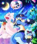 anthro canine female group hi_res lucario male male/female mammal mienshao nintendo pokémon riolu shioppoihito thought_bubble video_games  Rating: Safe Score: 5 User: Rad_Dudesman Date: December 03, 2015