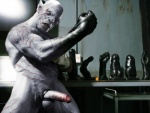 azog_the_defiler blue_eyes clothing cock_ring fangs gloves grey_body humanoid leather male mammal muscles not_furry orc penis rubber_fist rubber_glove scar solo standing teeth the_hobbit white_skin  Rating: Explicit Score: 4 User: lizardlover Date: May 09, 2015""