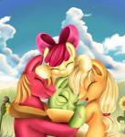 2014 absurd_res apple_bloom_(mlp) applejack_(mlp) big_macintosh_(mlp) cute earth_pony equine eyes_closed family female feral friendship_is_magic granny_smith_(mlp) group hi_res horse hug male mammal my_little_pony pony pridark  Rating: Safe Score: 10 User: Robinebra Date: November 24, 2014