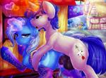 2015 <3 animal_genitalia anus balls blue_eyes blue_hair clothing cutie_mark digital_media_(artwork) dimwitdog duo_focus equine fan_character female feral friendship_is_magic glowing group hair hi_res horn horsecock legwear looking_at_viewer magic male male/female mammal my_little_pony open_mouth outside penetration penis public purple_eyes pussy saddle sex snails_(mlp) snips_(mlp) trixie_(mlp) unicorn vaginal vaginal_penetration  Rating: Explicit Score: 10 User: lemongrab Date: November 18, 2015
