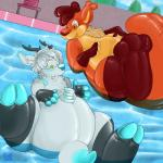 anthro chubby duo floebean inflatable inflation male mammal nosivi pool_toy rodent sqrltacular squirrel swimming_pool water  Rating: Safe Score: 5 User: Lyude1337 Date: November 08, 2013""