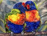 2002 ambiguous_gender avian beak bird blue_eyes blue_feathers branch detailed_background duo feathered_wings feathers feral front_view green_feathers lorikeet nibbling novawuff nuzzling on_branch orange_beak outside perched rainbow_lorikeet red_beak red_feathers standing traditional_media_(artwork) wings yellow_feathersRating: SafeScore: 3User: SnowWolfDate: January 26, 2018
