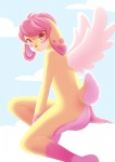 ambiguous_gender banto-kun digital_media_(artwork) edalie feathered_wings feathers lagomorph looking_at_viewer mammal nude rabbit solo warm_colors wings  Rating: Questionable Score: 4 User: DSR1337 Date: July 09, 2015