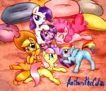 2014 anibaruthecat anus applejack_(mlp) blonde_hair blue_eyes blue_fur bound cowboy_hat cub earth_pony equine eyelashes female female/female feral fluttershy_(mlp) freckles friendship_is_magic fur green_eyes group hair happy hat hi_res horn horse lying mammal multicolored_hair my_little_pony on_back on_front open_mouth orange_fur pegasus pillow pink_fur pink_hair pinkie_pie_(mlp) pony purple_eyes purple_fur purple_hair pussy rainbow_dash_(mlp) rainbow_hair rarity_(mlp) rope smile spread_legs spreading tongue tongue_out twilight_sparkle_(mlp) unicorn white_fur winged_unicorn wings yellow_fur young   Rating: Explicit  Score: 26  User: lemongrab  Date: July 15, 2014
