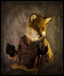 anthro canine chair clothed clothing fox fully_clothed fursuit glass holding_glass male mammal pants qarrezel real realistic shirt solo vest wooden_chair  Rating: Safe Score: 4 User: cookiekangaroo Date: September 22, 2010