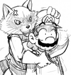 angry anthro crossover english_text grin hat human knife male mario mario_bros monochrome nintendo raccoon rocket_raccoon smile sssonic2 text threatening video_games   Rating: Questionable  Score: 1  User: Robinebra  Date: September 30, 2012