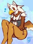 2016 abstract_background amber_eyes anthro avian beak big_breasts breasts cat_keyhole_bra cat_lingerie cleavage clothed clothing english_text female granoa gryphon kemono lingerie shioinu sitting skimpy solo text underwear wings  Rating: Safe Score: 5 User: Recursion Date: February 09, 2016