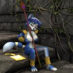 3d anthro areola armor breasts canine clothing female fox krystal looking_at_viewer mammal navel nintendo nipples nude open_mouth polearm smile solo staff star_fox video_games weapon   Rating: Questionable  Score: 23  User: Kadruk  Date: January 16, 2015
