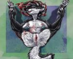 anthro anus black_fur blue_eyes breasts canine clitoris clitoris_piercing female fur genital_piercing hair jacki_northstar mammal nude piercing pussy red_claws red_hair sabretoothed_ermine spreading tattoo white_fur wolf   Rating: Explicit  Score: 21  User: derpwolf  Date: February 06, 2014