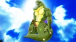 2011 abs anthro biceps bulge claws clothing cloud cloudscape digital_media_(artwork) dinosaur erection fabfelipe glare looking_at_viewer male muscles nipples outside pecs penis scalie sky smile solo standing teeth thong tyrannosaurus_rex underwear   Rating: Explicit  Score: 0  User: zaderion  Date: December 24, 2014