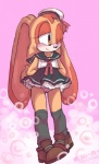 abstract_background blush bubble clothing cosplay cream_the_rabbit female footwear hat lagomorph mammal nyowa one_eye_closed panties sailor_uniform shoes smile solo sonic_(series) underwear wink  Rating: Questionable Score: 15 User: Cimatrie Date: December 29, 2015