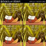 2015 <3 adam_ellis comic cute english_text eyes_closed feral gastropod grass letter rope side_view slime smile snail solo text  Rating: Safe Score: 14 User: Jugofthat Date: October 21, 2015