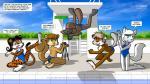 avian beaver bird canine clothing cub duck feline female fox group krezz_karavan male mammal rodent school_days swim swimsuit text tiger young  Rating: Questionable Score: 2 User: ArmageddOK Date: June 29, 2015