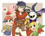 alien cape clothing crossover earthbound_(series) fire_emblem group human humanoid hylian ike kirby kirby_(series) male mammal mask meta_knight ness nintendo not_furry super_smash_bros the_legend_of_zelda toon_link unknown_artist video_games wings  Rating: Safe Score: 2 User: Cαnε751 Date: December 17, 2015