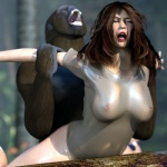 3d ape bestiality breasts canis3 female feral forced gorilla human interspecies mammal primate rape sex sherilyn   Rating: Explicit  Score: -2  User: Canis3  Date: May 29, 2015