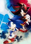 anthro black_nose clothing duo footwear fur gloves green_eyes hedgehog male mammal naoko red_eyes shadow_the_hedgehog smile sonic_(series) sonic_the_hedgehog white_fur  Rating: Safe Score: 3 User: Cαnε751 Date: January 03, 2016