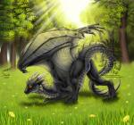 anus butt detailed_background dragon drerika female feral grass horn looking_at_viewer membranous_wings outside presenting presenting_hindquarters pussy pussy_juice scalie solo tree watermark wings  Rating: Explicit Score: 30 User: FerretXing Date: May 01, 2016