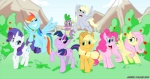 2011 applejack_(mlp) cutie_mark derpy_hooves_(mlp) dragon equine female feral fluttershy_(mlp) friendship_is_magic group hat horn horse male mammal my_little_pony outside pegasus pinkie_pie_(mlp) pony rainbow_dash_(mlp) rarity_(mlp) scalie spike_(mlp) twilight_sparkle_(mlp) unicorn wings zeurel   Rating: Safe  Score: 2  User: Kholchev  Date: September 01, 2012